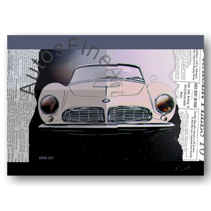 BMW 507 - HD Aluminiumbild No. 138urban
