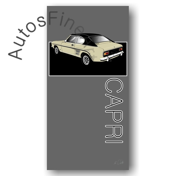Ford Capri - HD Aluminiumbild No. 128named