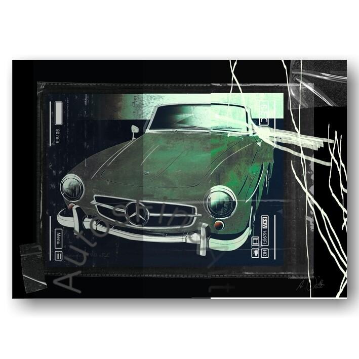 Mercedes 190 SL - HD Aluminiumbild No. 134urban