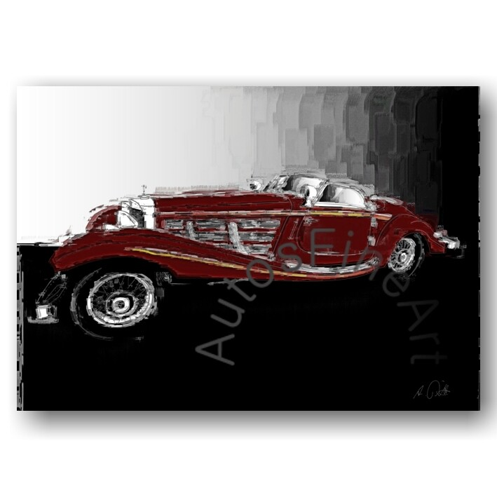 Mercedes 540 K Special Roadster - Poster No. 153italy