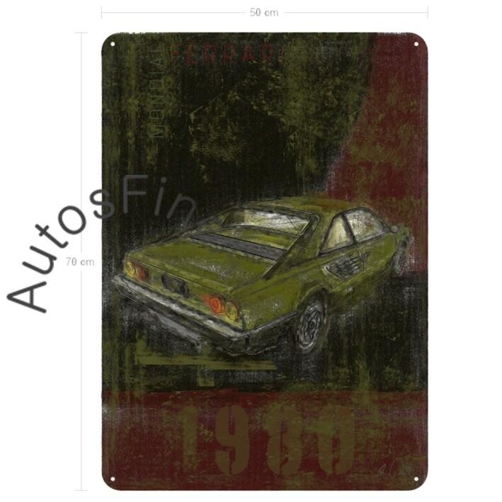 Ferrari Mondial - Blechbild No. 3Plate