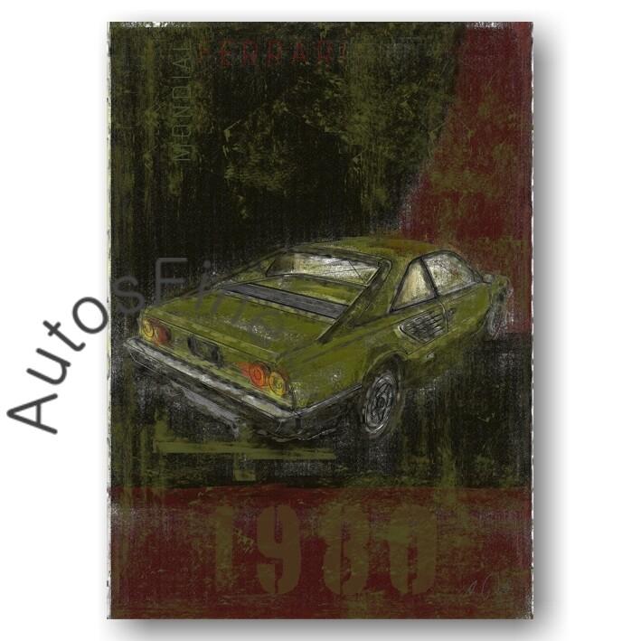 Ferrari Mondial - Kunstdruck No. 3Plate DIN A3