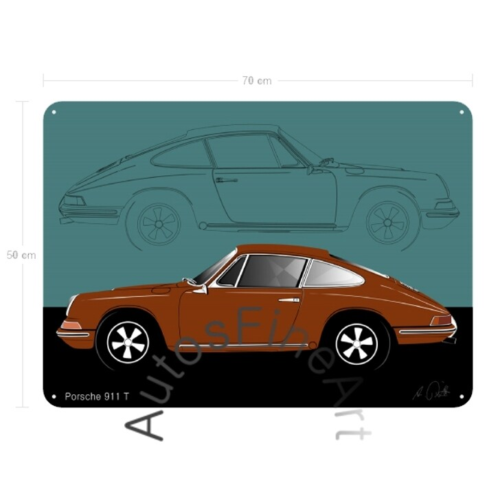 Porsche 911 T - Blechbild No. 111sketch