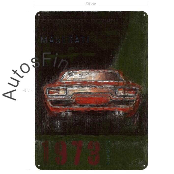 Maserati Khamsin - Blechbild No. 5Plate