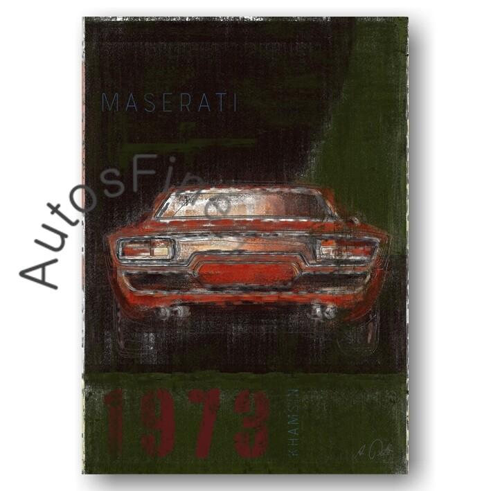 Maserati Khamsin - Poster No. 5Plate