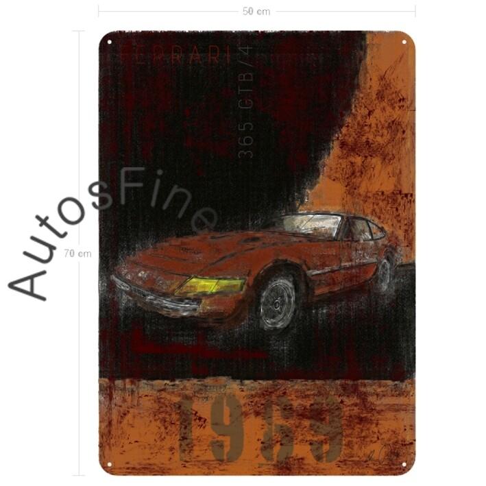 Ferrari 365 GTB/4 DAYTONA - Blechbild No. 6Plate