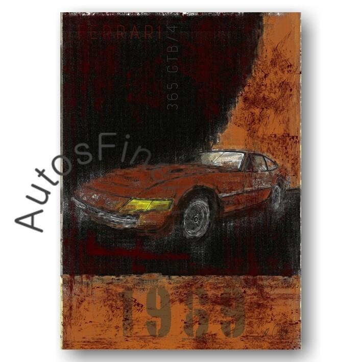 Ferrari 365 GTB/4 DAYTONA - Poster No. 6Plate