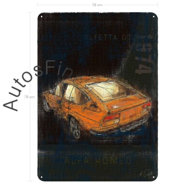 Alfa Romeo Alfetta GTV - Blechbild No. 7Plate