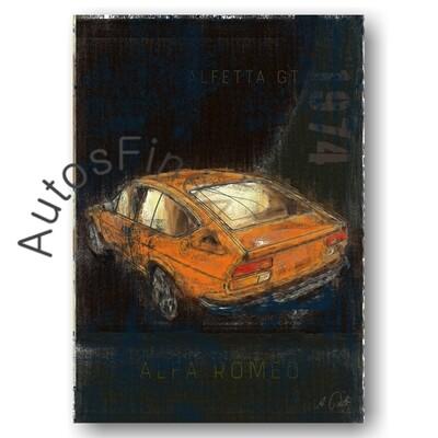 Alfa Romeo Alfetta GTV - HD Aluminiumbild No. 7Plate