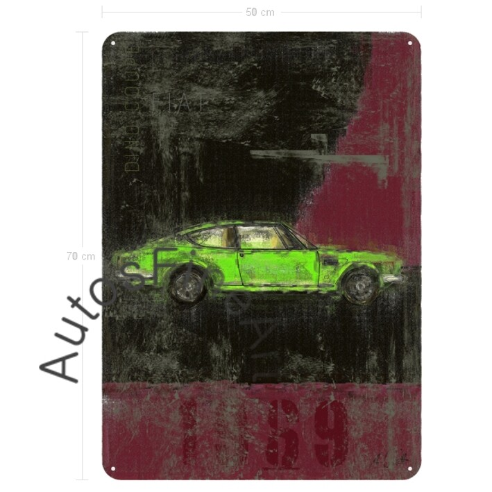 Fiat Dino Coupé - Blechbild No. 8Plate