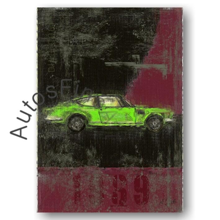Fiat Dino Coupé - Poster No. 8Plate