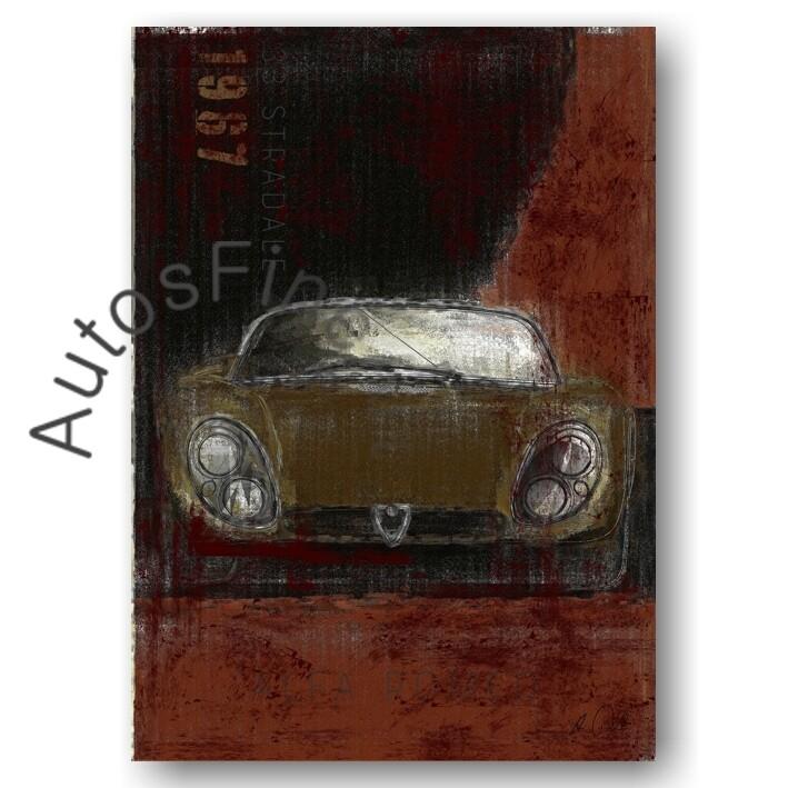 Alfa Romeo 33 Stradale - Kunstdruck No. 104Plate