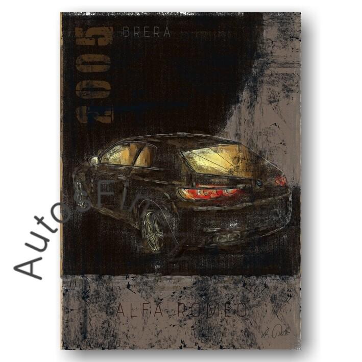 Alfa Romeo Brera - Poster No. 74Plate