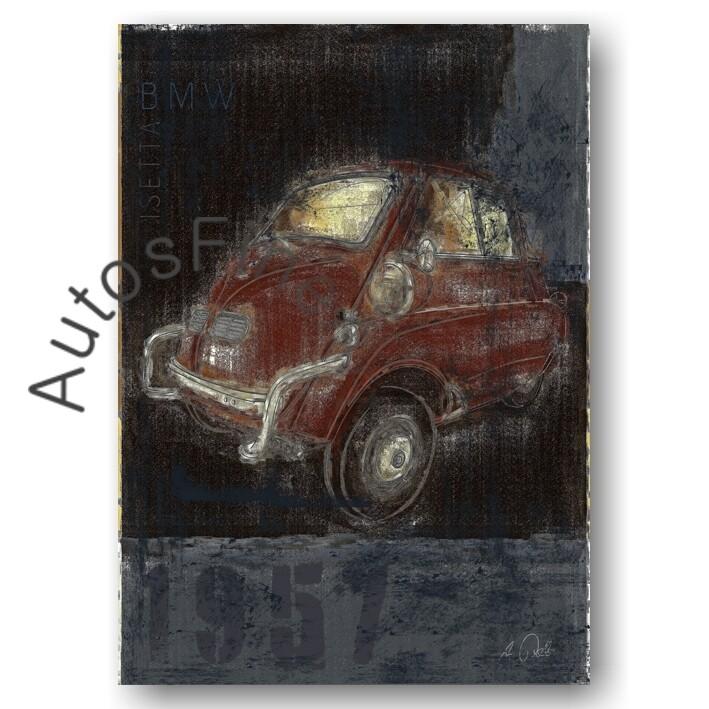 BMW Isetta - Kunstdruck No. 160Plate
