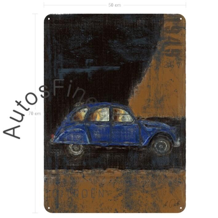 Citroen 2cv ENTE - Blechbild No. 159Plate