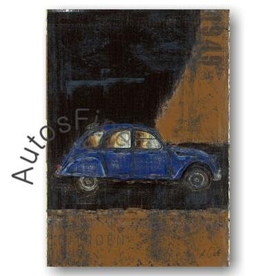 Citroen 2cv ENTE - Poster No. 159Plate