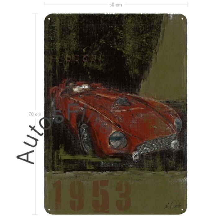 Ferrari 375MM - Blechbild No. 158Plate