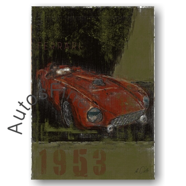 Ferrari 375MM - HD Aluminiumbild No. 158Plate