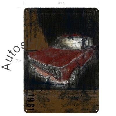 Fiat 1500 - Blechbild No. 157Plate