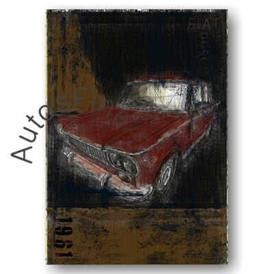 Fiat 1500 - Poster No. 157Plate