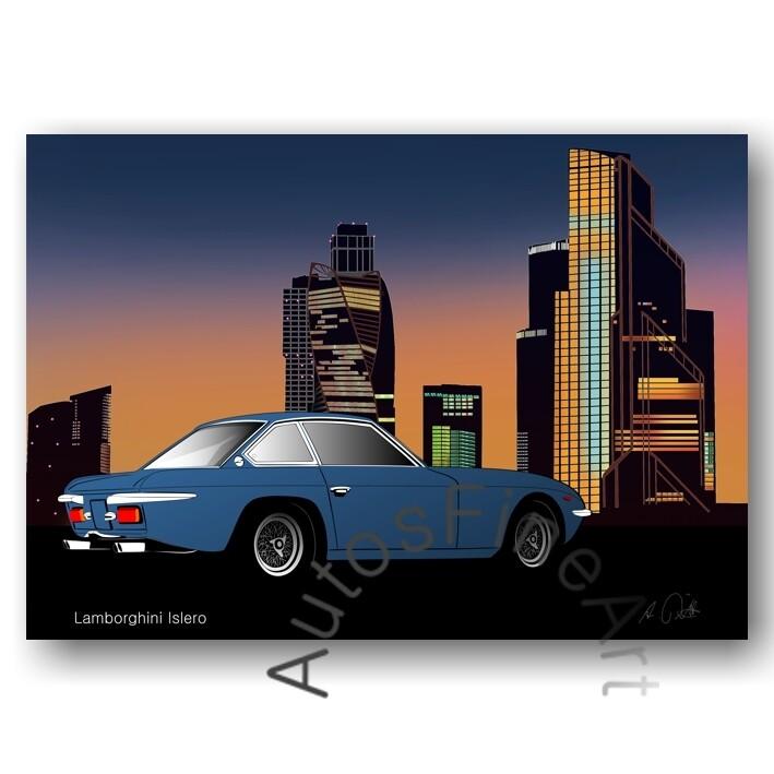 Lamborghini Islero - Kunstdruck No. 52city