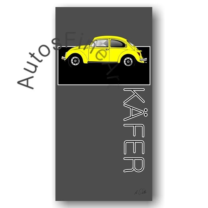 VW Käfer - HD Aluminiumbild No. 123named