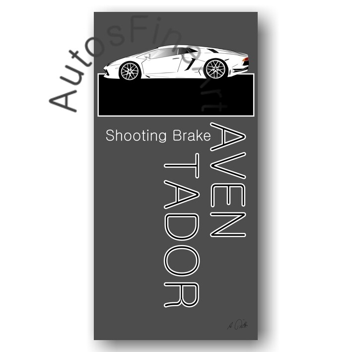 Lamborghini Aventador SHOOTING BRAKE-a - HD Aluminiumbild No. 55named