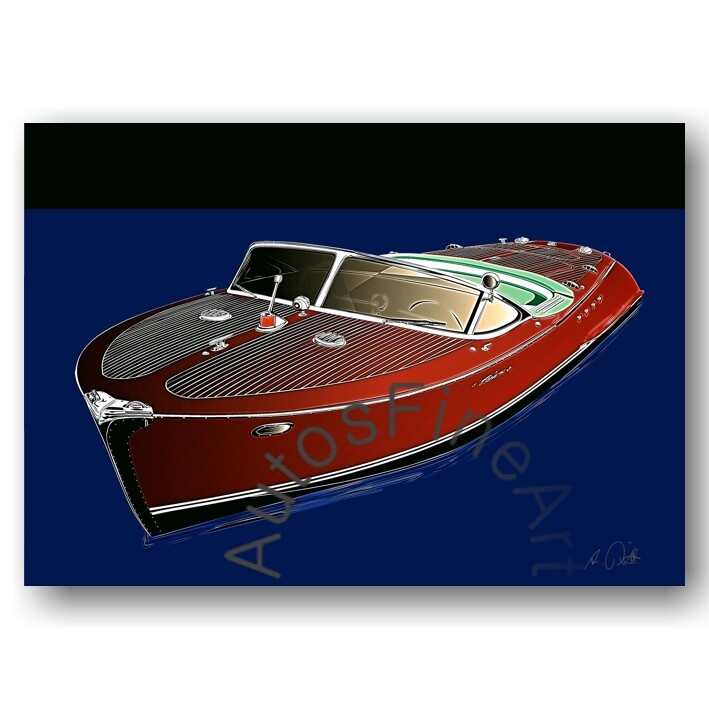 HD Aluminiumbild SHIPglow No. 2 RIVA Boot