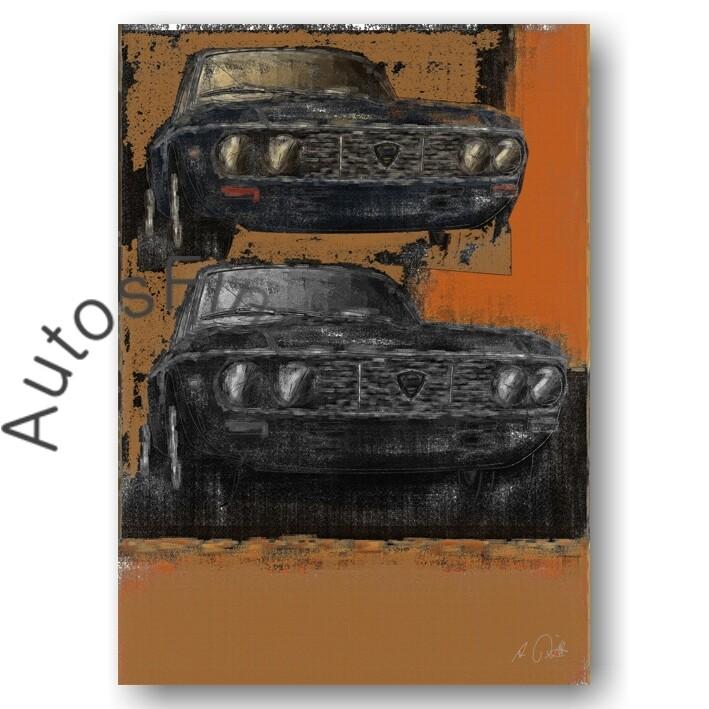 Lancia Fulvia Coupé - HD Aluminiumbild No. 42aClassic