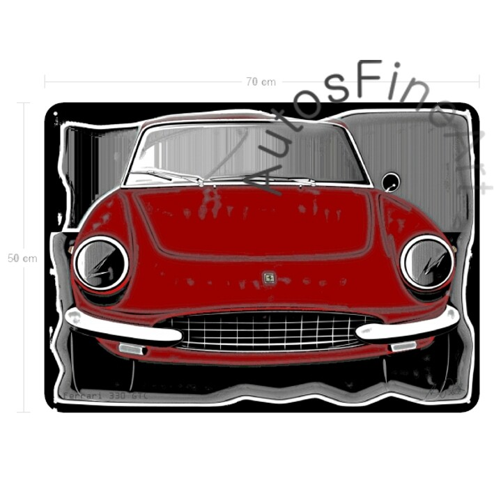 Ferrari 330 GTC - Blechbild No. 81vintage