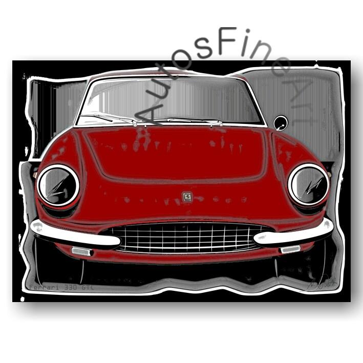 Ferrari 330 GTC - HD Aluminiumbild No. 81vintage