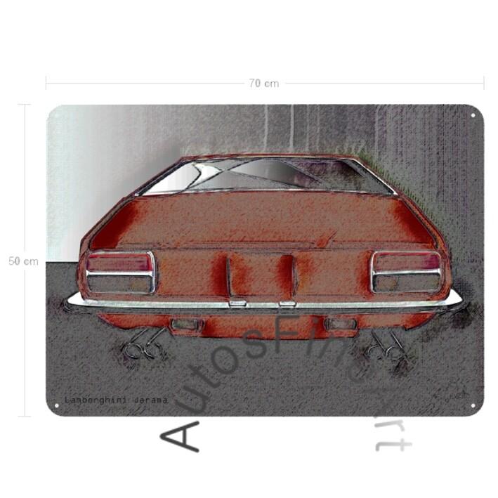Lamborghini Jarama - Blechbild No. 80vintage