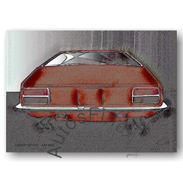 Lamborghini Jarama - Poster No. 80vintage