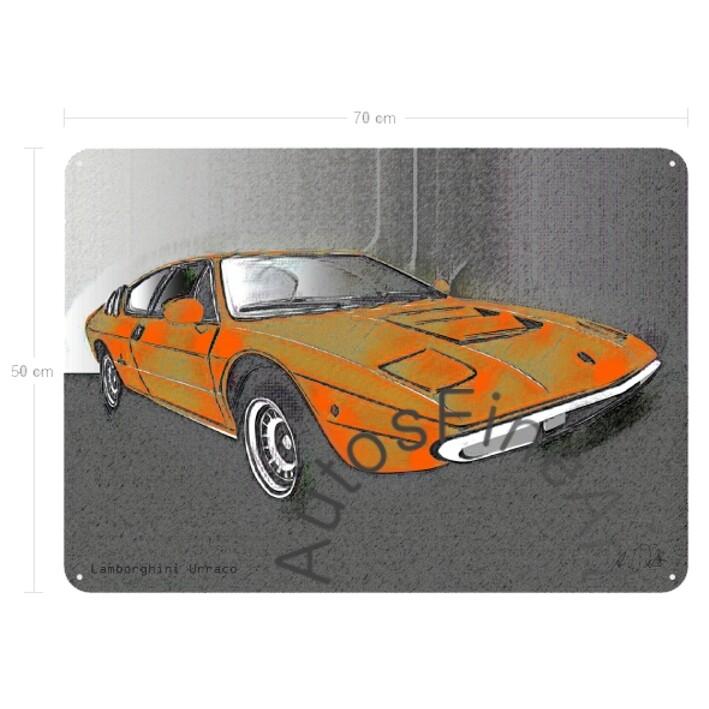 Lamborghini Urraco - Blechbild No. 79vintage