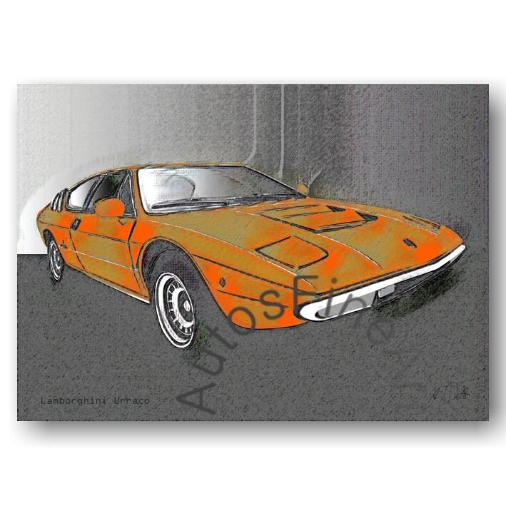 Lamborghini Urraco - Poster No. 79vintage