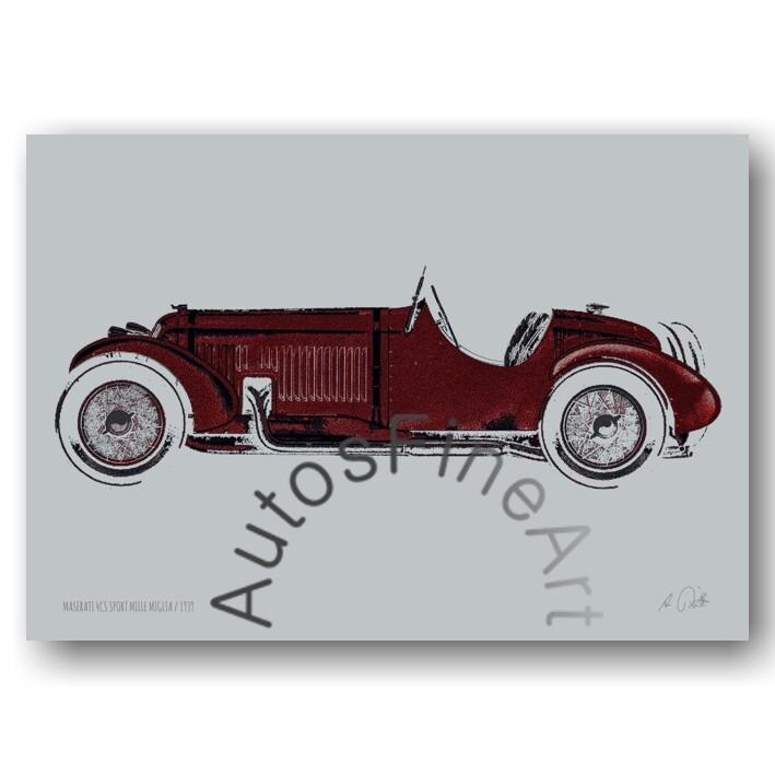 HD Aluminiumbild MASERATI 1939 No. 3