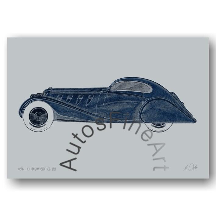 HD Aluminiumbild MASERATI 1939 No. 5