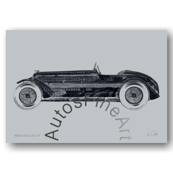 HD Aluminiumbild MASERATI 1939 No. 8