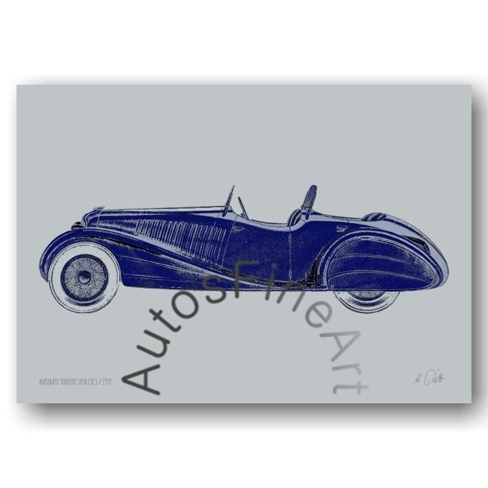 HD Aluminiumbild MASERATI 1939special No. 6