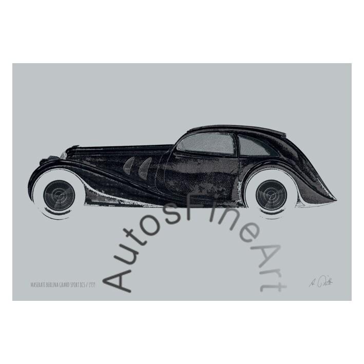 HD Aluminiumbild MASERATI 1939special No. 4