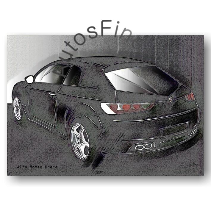 Alfa Romeo Brera - HD Aluminiumbild No. 74vintage
