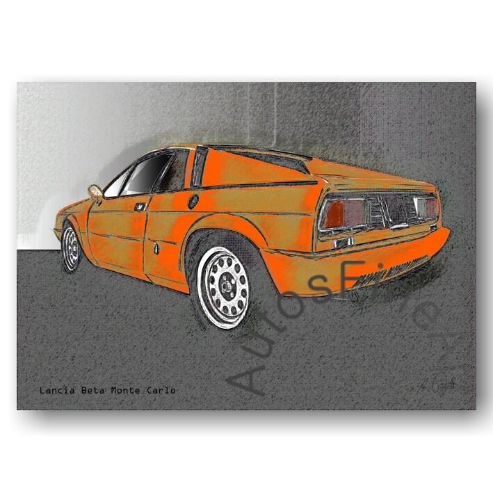 Lancia Beta Monte Carlo - Poster No. 73vintage