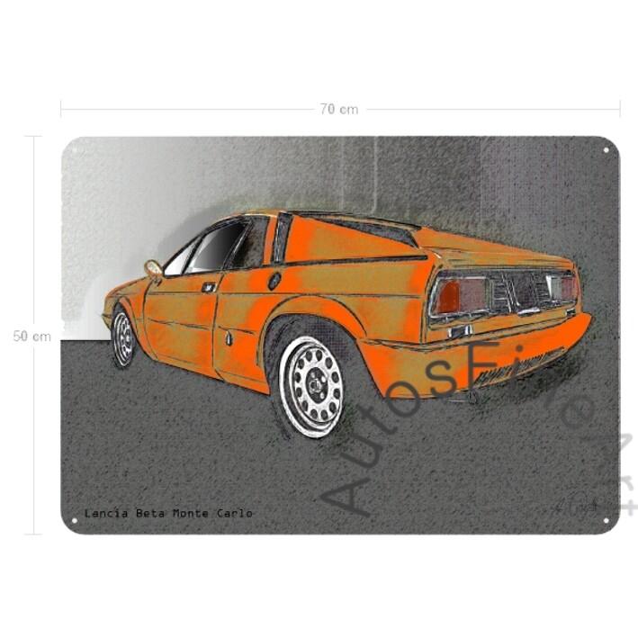 Lancia Beta Monte Carlo - Blechbild No. 73vintage
