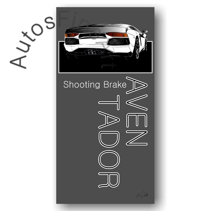 Lamborghini Aventador SHOOTING BRAKE - Poster No. 55named