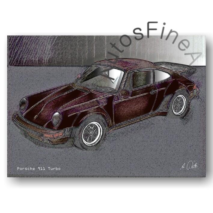 Porsche 911 Turbo - Poster No. 145vintage