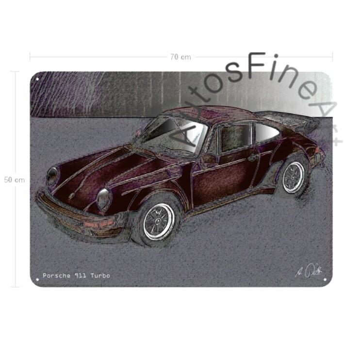 Porsche 911 Turbo - Blechbild No. 145vintage