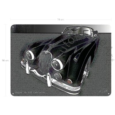 Jaguar XK 150 Cabriolet - Blechbild No. 148vintage