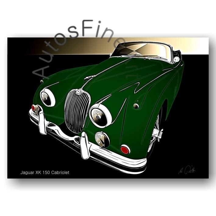 Jaguar XK 150 Cabriolet - HD Aluminiumbild No. 148glow