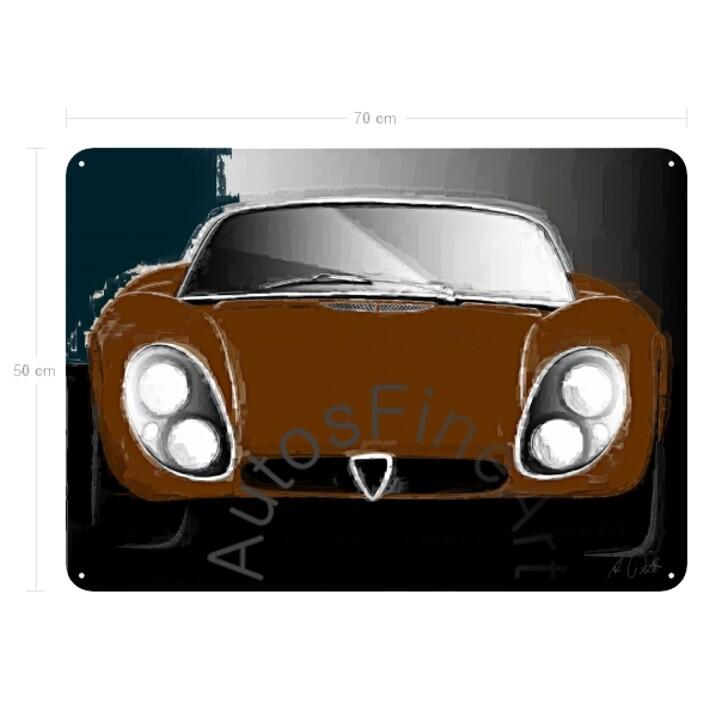 Alfa Romeo 33 Stradale - Blechbild No. 104italy