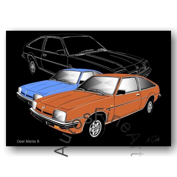 Opel Manta B - HD Aluminiumbild No. 164sketch